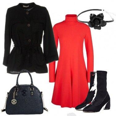 Outfit Un fiore nero