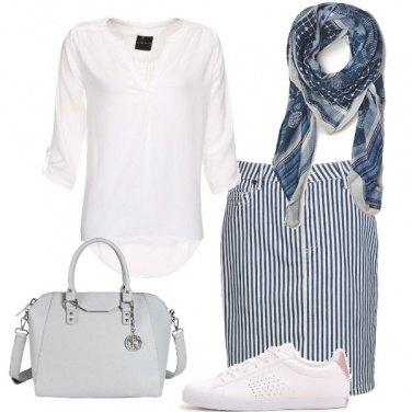 Outfit Righe e comodità