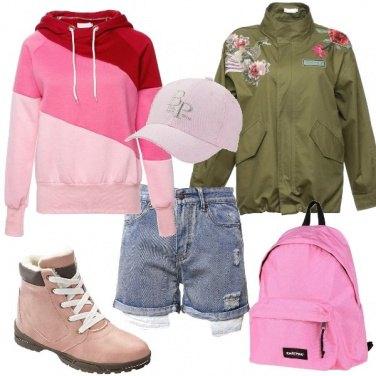 Outfit Urban con tocchi floreali