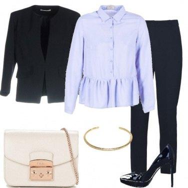 Outfit Di classe in blu e celeste