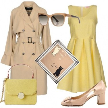 Outfit Bon Ton in beige e giallo