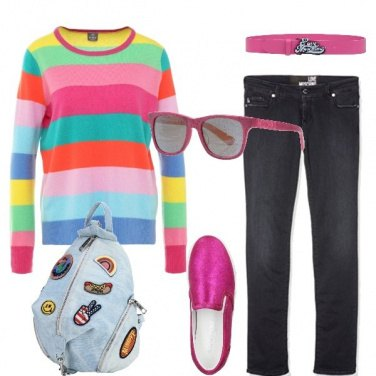 Outfit Casual colorato