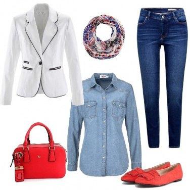 Outfit Denim elegante con brio