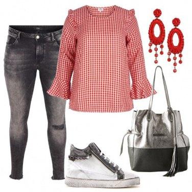 Outfit I quadretti rossi