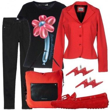 Outfit Fiori e fulmini