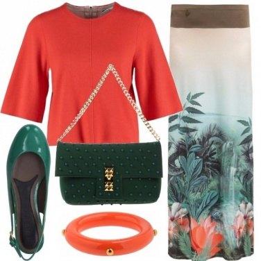 Outfit Colorata eleganza