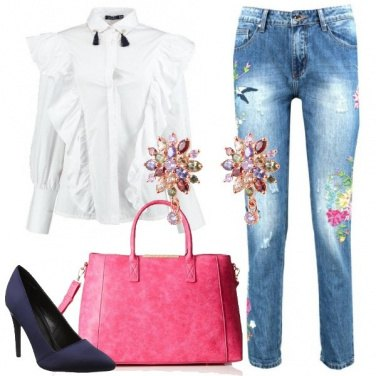 Outfit Jeans ricamati