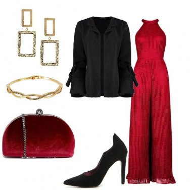 Outfit Jumpsuit rossa