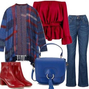 Outfit La mantella con frange