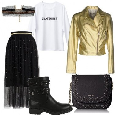 Outfit Biker oro