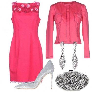 Outfit Cerimonia fucsia