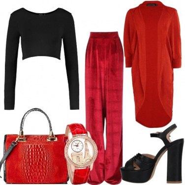 Outfit Di rosso e di nero
