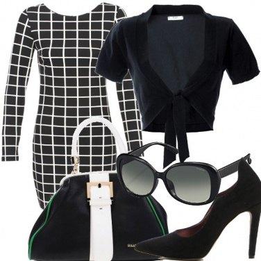 Outfit Tubino bianconero