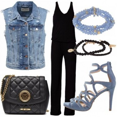 Outfit Black & denim