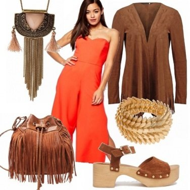 Outfit Girl orange brown!