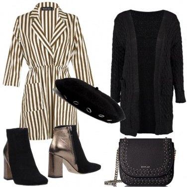 Outfit Cardigan e basco