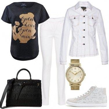 Outfit Oro bianco e nero