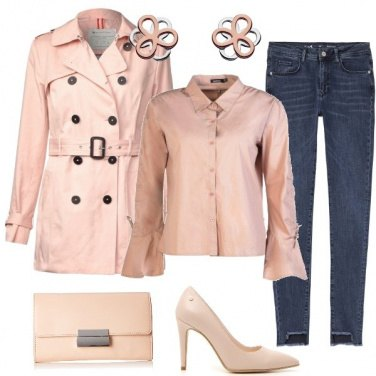 Outfit Il trench rosa