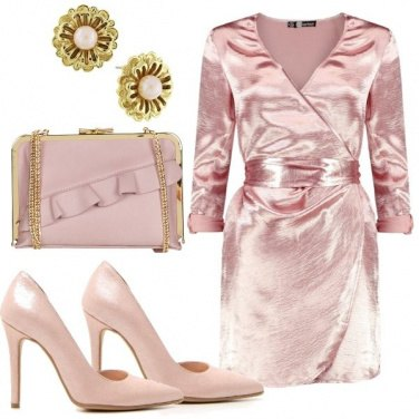 Outfit Monocromatica in rosa
