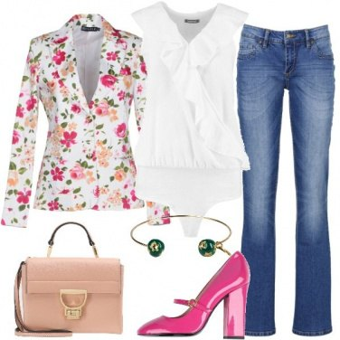 Outfit Blazer fiorato