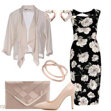 Outfit Tubino longuette a fiori
