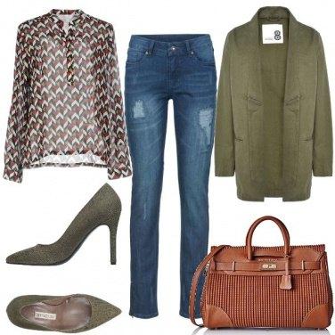 Outfit Verde e marrone