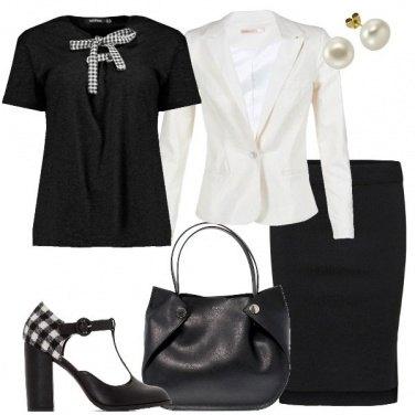 Outfit Bon ton a quadretti