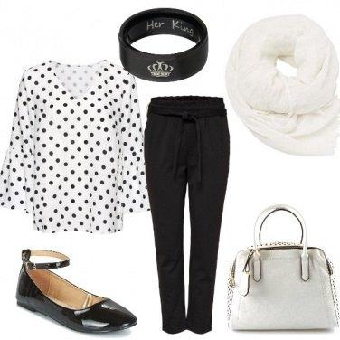 Outfit Una signorina a pois