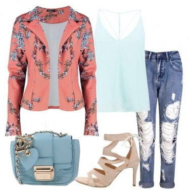Outfit Blazer con stampa floreale