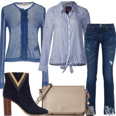 Outfit Jeans con frange