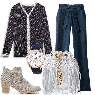 Outfit Frange color argento