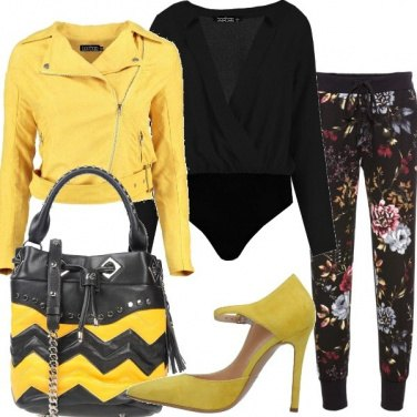 Outfit Biker in camoscio