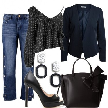 Outfit Jeans e nero