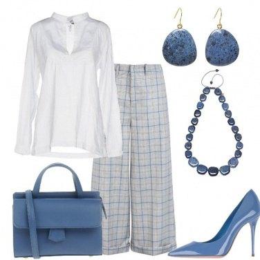 Outfit In ufficio con il pantalone ampio