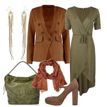 Outfit Oliva e marrone