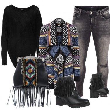 Outfit Alla moda con le frange