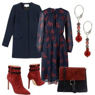 Outfit In blu e rosso