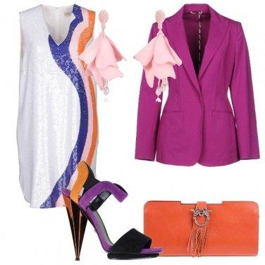Outfit Arancio e viola