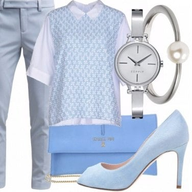 Outfit Meraviglie in serenity and grey
