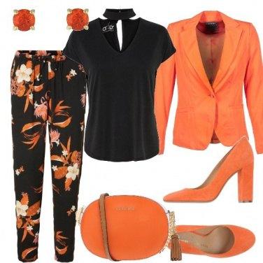 Outfit Arancio per la sera