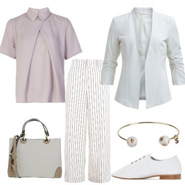 Outfit Righe sul bianco