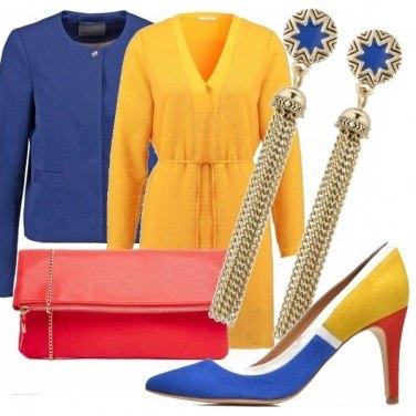 Outfit Giallo, rosso e blu...
