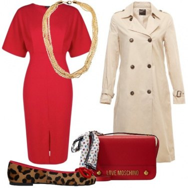 de685466a82a Il tubino rosso  outfit donna Bon Ton per ufficio