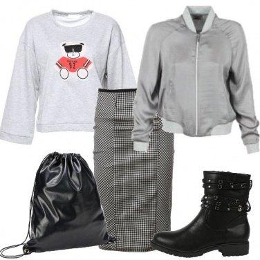 Outfit Grigio urbano