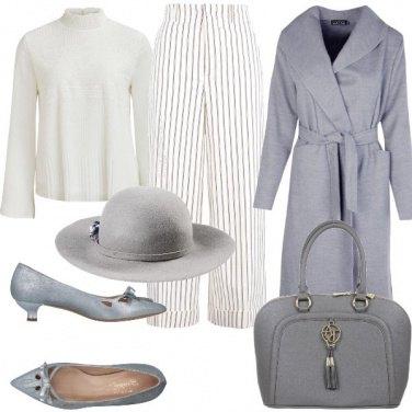 Outfit Grigio e bianco