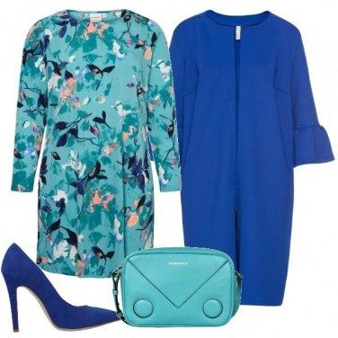 Outfit Con il cappotto blu