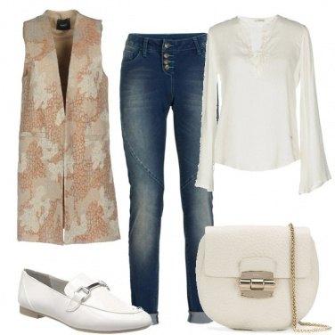 Outfit I mocassini e il jeans per l\'ufficio