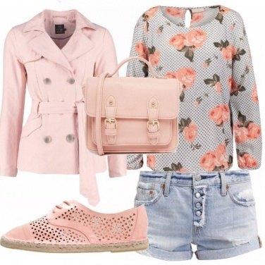 Outfit Donna rosa romantico