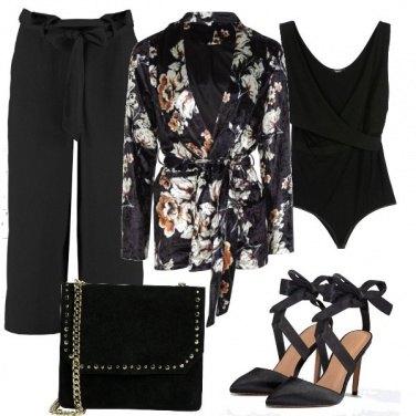 Outfit Fiori sul kimono