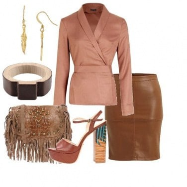 Outfit Blusa a portafoglio